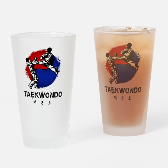 Cute Martial arts Drinking Glass