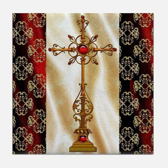 Harvest Moons Renaissance Crosss Tile Coaster