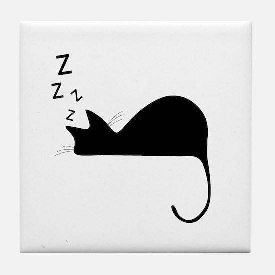 Funny Cute cats Tile Coaster