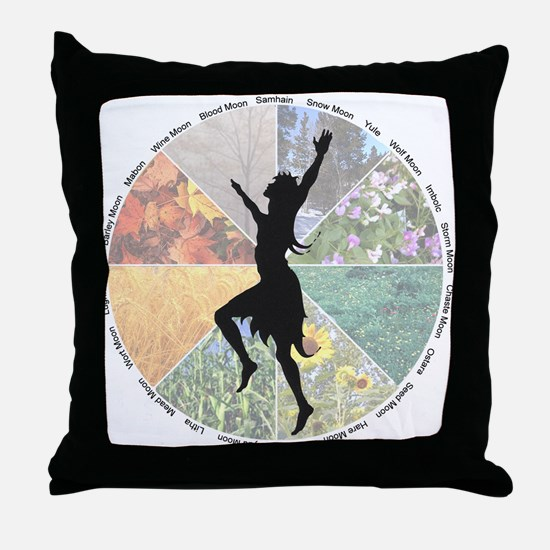 Funny Wheel of the year Throw Pillow