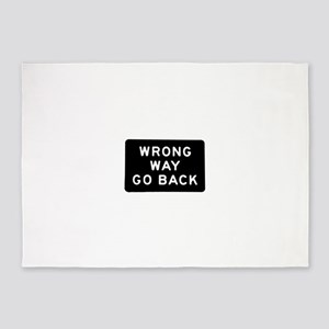 Wrong Way 5'x7'Area Rug