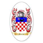 Marcia Sticker (Oval 50 pk)
