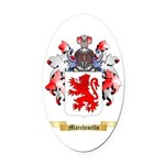 Marchisello Oval Car Magnet