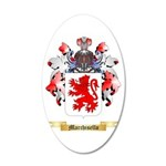 Marchisello 20x12 Oval Wall Decal