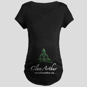 Clan Arthur Celtic Knot Maternity Dark T-Shirt