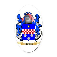 Marchini Oval Car Magnet