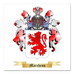 Marcheso Square Car Magnet 3