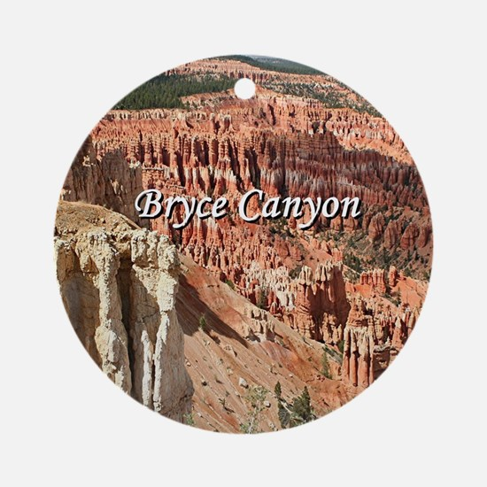 Bryce Canyon, Utah 21 (caption) Round Ornament