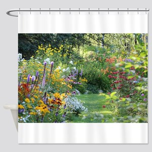 Three Gardens Meet Shower Curtain