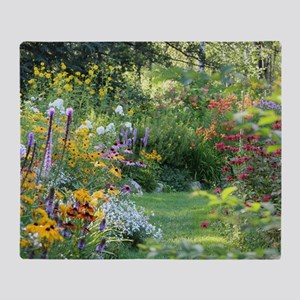 Three Gardens Meet Throw Blanket