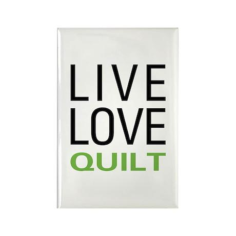 Live Love Quilt Rectangle Magnet (100 pack)