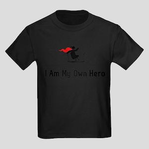 Adaptive Skiing Hero Kids Dark T-Shirt