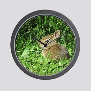 Baby Rabbit Wall Clock