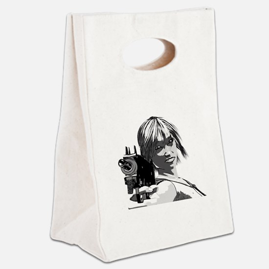 Cute Fantasy and scifi and anime Canvas Lunch Tote