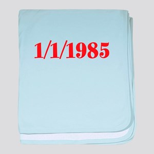 1/1/1985 baby blanket