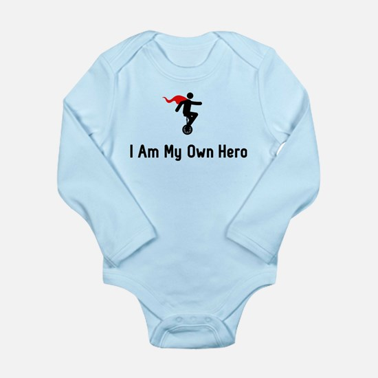 Unicycling Hero Long Sleeve Infant Bodysuit