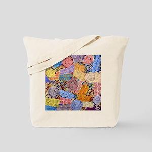 AUSTRALIAN ABORIGINAL ART IN CIRCLES Tote Bag