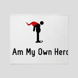 Weighing Hero Throw Blanket