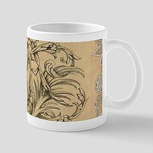 swirls paris vintage crown Mugs