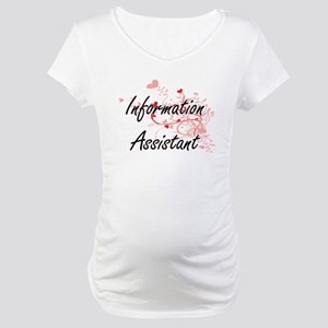 Information Assistant Artistic J Maternity T-Shirt
