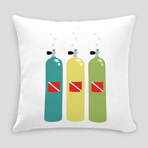 Scuba Tanks Everyday Pillow