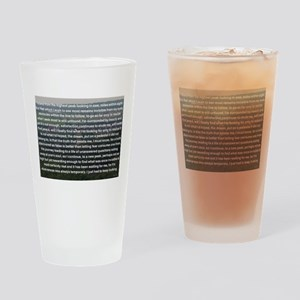 Invisible No More Drinking Glass