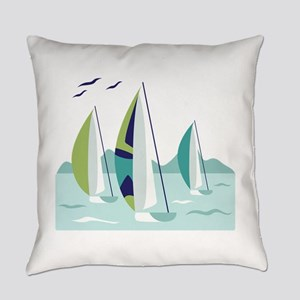 Sail Boat Race Everyday Pillow