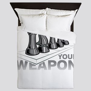 Chess Game Choose Your Weapon Queen Duvet