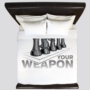 Chess Game Choose Your Weapon King Duvet