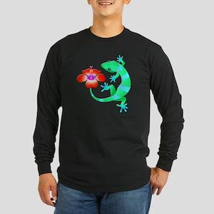 Blue and Green Jungle Lizard w Long Sleeve T-Shirt