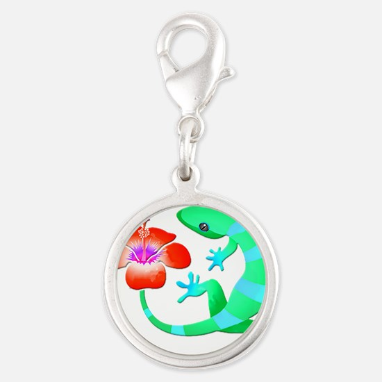Blue and Green Jungle Lizard with Orange Hi Charms
