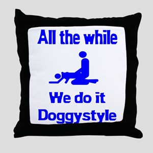 Doggystyle Throw Pillow