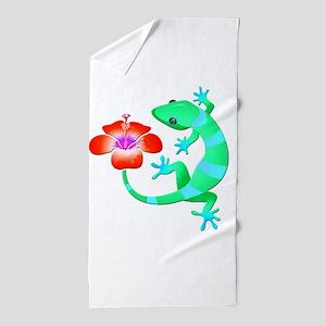 Blue and Green Jungle Lizard with Oran Beach Towel