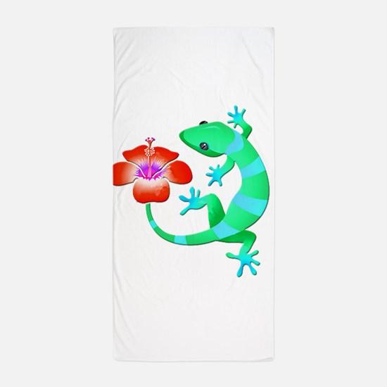 Blue and Green Jungle Lizard with Oran Beach Towel