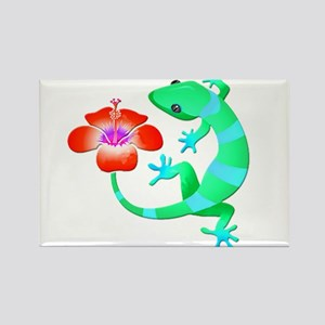 Blue and Green Jungle Lizard with Orange H Magnets