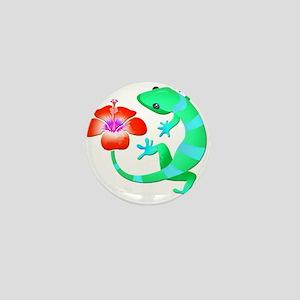 Blue and Green Jungle Lizard with Oran Mini Button