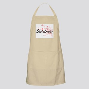 Obstetrician Artistic Job Design with Hearts Apron