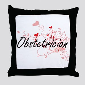 Obstetrician Artistic Job Design with Throw Pillow