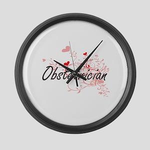 Obstetrician Artistic Job Design Large Wall Clock