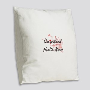 Occupational Health Nurse Arti Burlap Throw Pillow