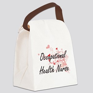 Occupational Health Nurse Artisti Canvas Lunch Bag