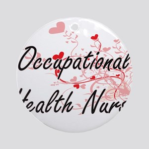 Occupational Health Nurse Artistic Round Ornament