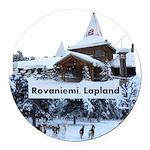 Lapland Round Car Magnet