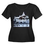 Lapland Women's Plus Size Scoop Neck Dark T-Shirt