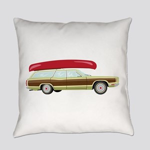 Station Wagon and Canoe Everyday Pillow