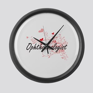 Ophthalmologist Artistic Job Desi Large Wall Clock