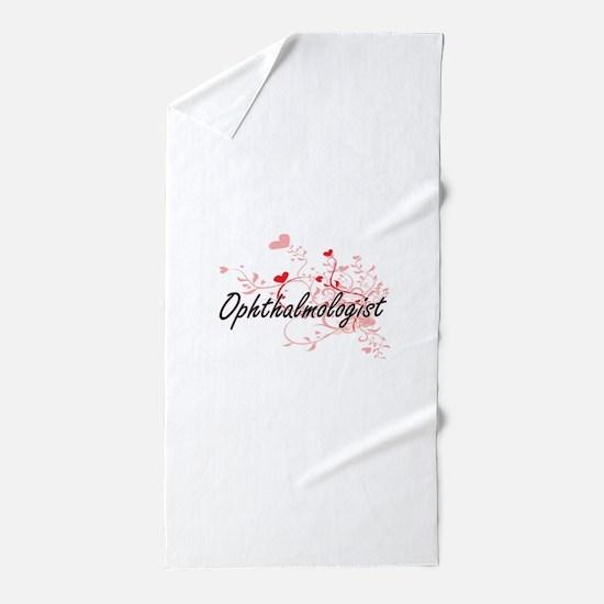 Ophthalmologist Artistic Job Design wi Beach Towel