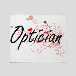 Optician Artistic Job Design with He Throw Blanket