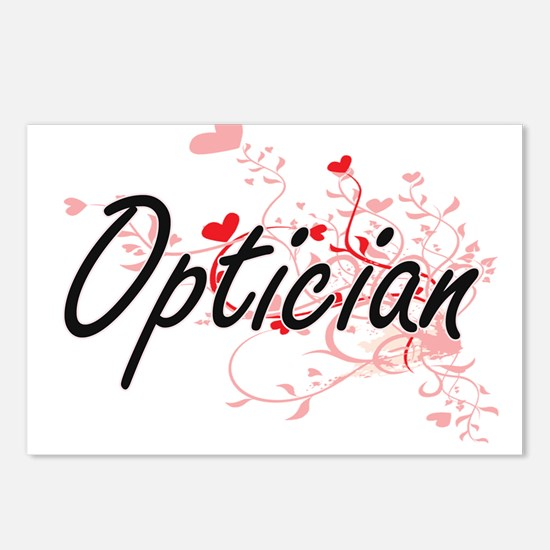 Optician Artistic Job Des Postcards (Package of 8)