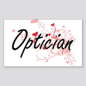 Optician Artistic Job Design with Hearts Sticker